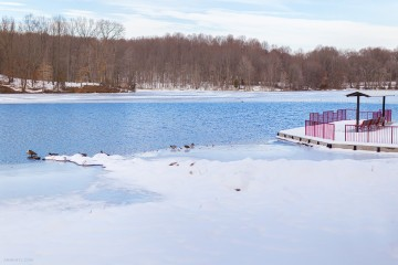 Frozen-Lake-Nature-by-Armenyl.comat Centennial Park Ellicott city