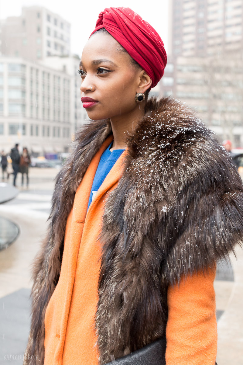 New York Fashion Week FW 2015 street style at Lincoln Center photo by Armenyl.com