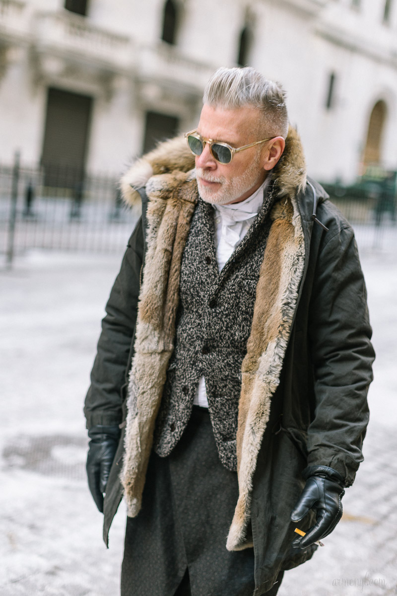 Nick Wooster Street style at New York Fashion Week 2015 by Armenyl.com-3