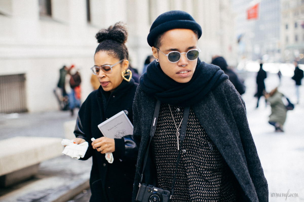 Street style at New York Fashion Week 2015 by Armenyl.com