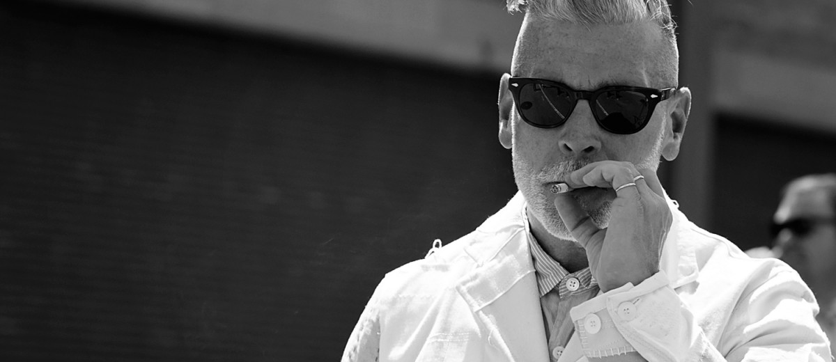 Nick Wooster at New York Men's Fashion Week 2015 street style photographed by Armenyl of Armenyl.com