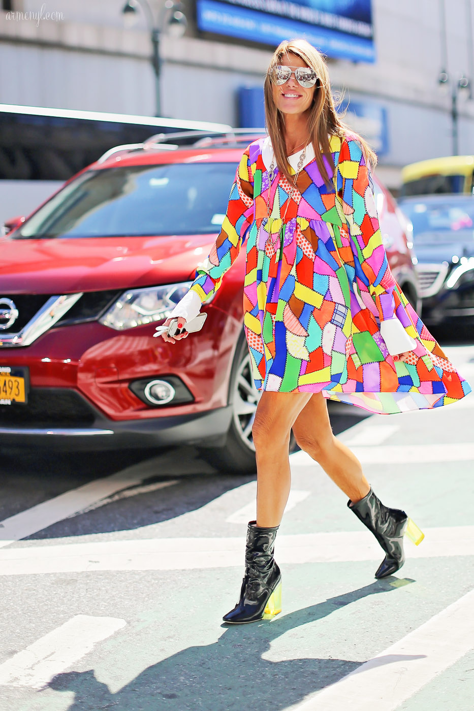 Anna Dello Russo at New York Fashion Week September ss 2015, at Jeremy Scott photographed by Armenyl.com
