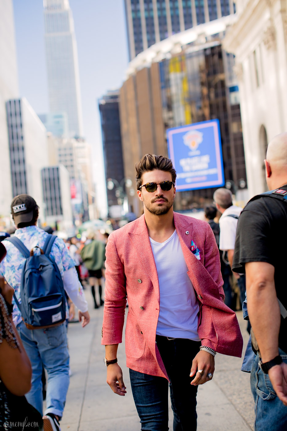 Mariano Di Vaio at NYFW 2015, Men's Street style, Jeremy Scott show photographed by street style photographer armenyl.com