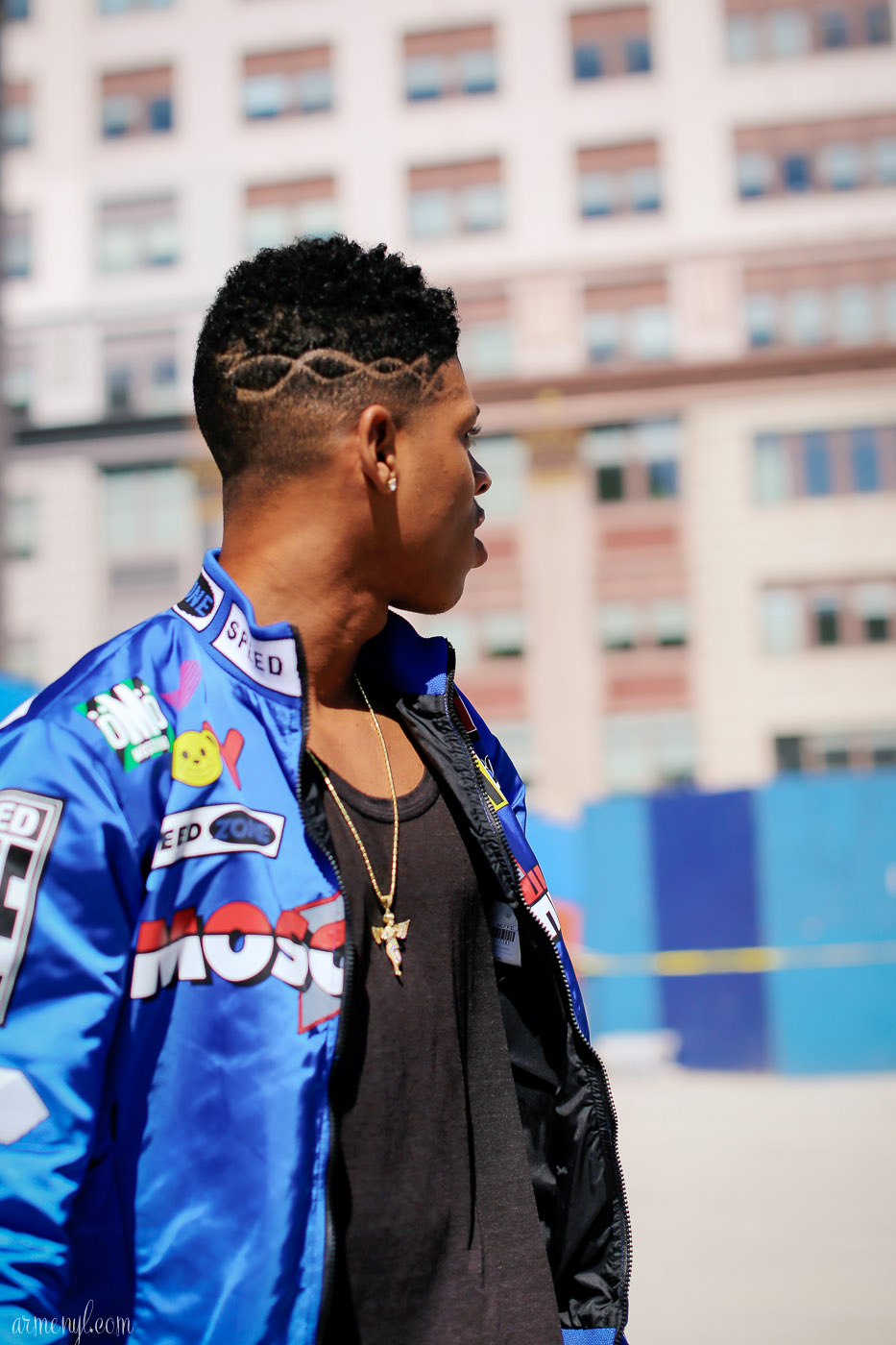 Empire's Bryshere Gray, Hakeem Lyon, is seen outside the Jeremy Scott show Photo by Fashion Photographer Armenyl.com