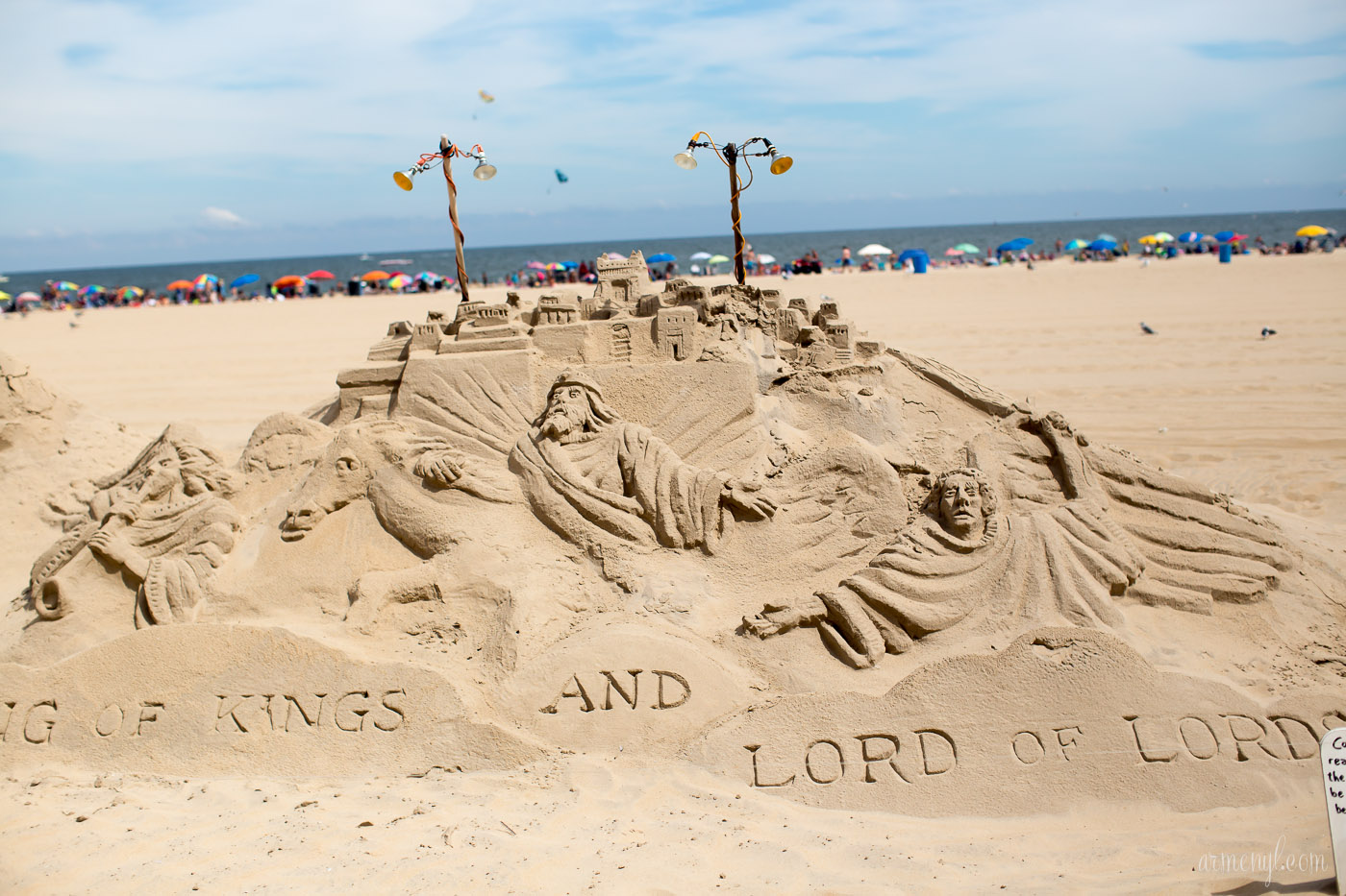 King of Kings and Lord of Lords Masterpiece Sandcastle by Armenyl photography Armenyl.com copyright