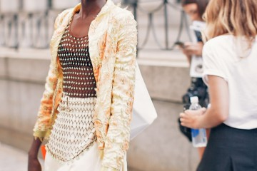 Model Nykhor Paul at NYFW 2015 Photo by Fashion Photographer Armenyl.com