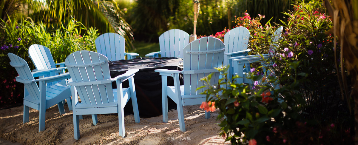 blue beach chairs and flowers by Armenyl photography Armenyl.com copyright-2