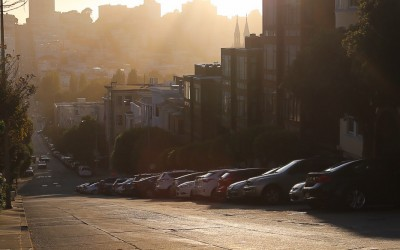 Streets of San Francisco in the evening light