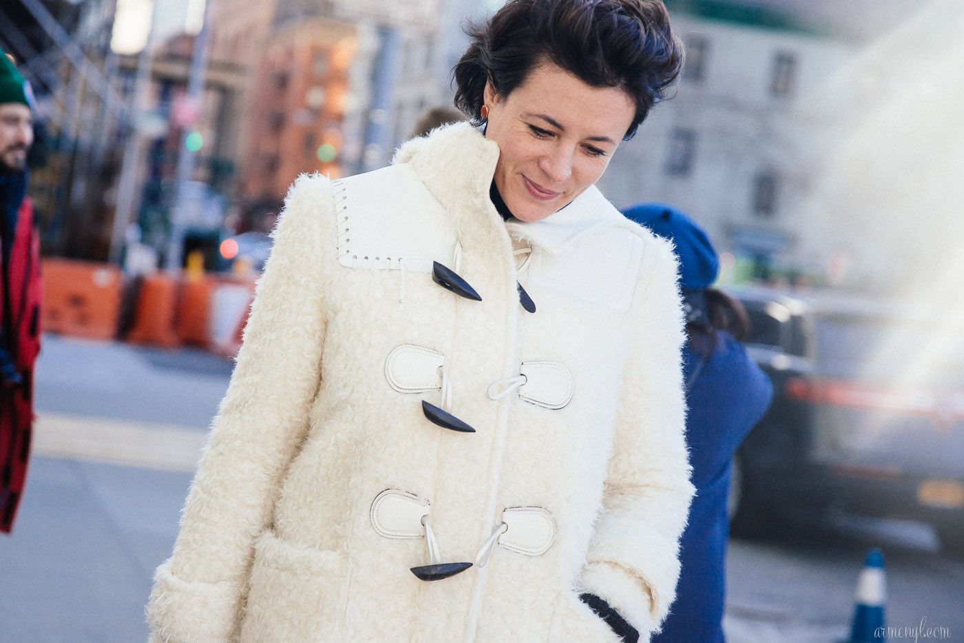 Blogger Garance Dore and Fiance Chris Norton at J Crew FW 2016 at New York Fashion Week photographed by blogger Armenyl.com