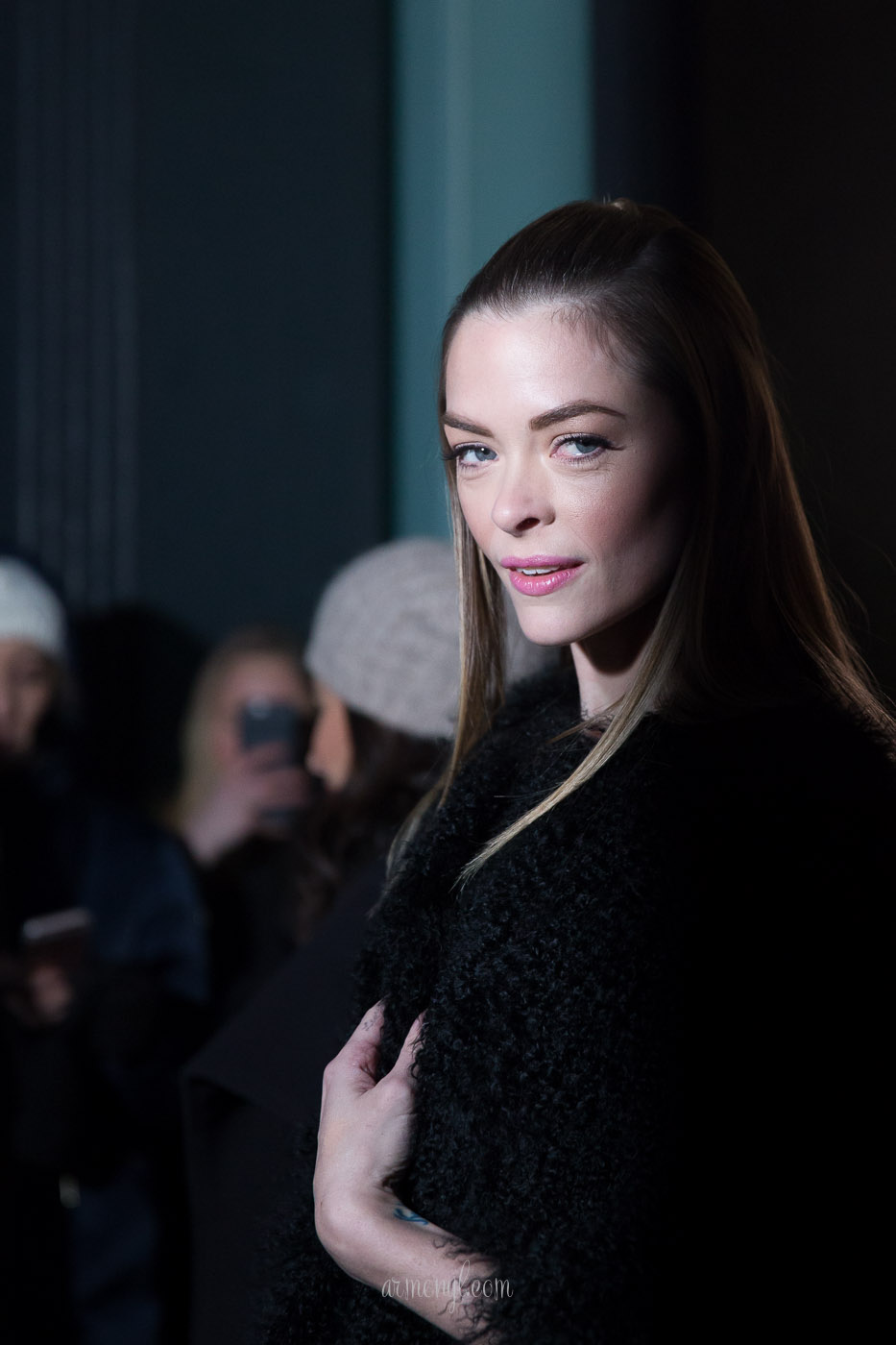 Actress Jamie King at DVF FW 2016 show in New york for New york Fashion Week photo by armenyl.com