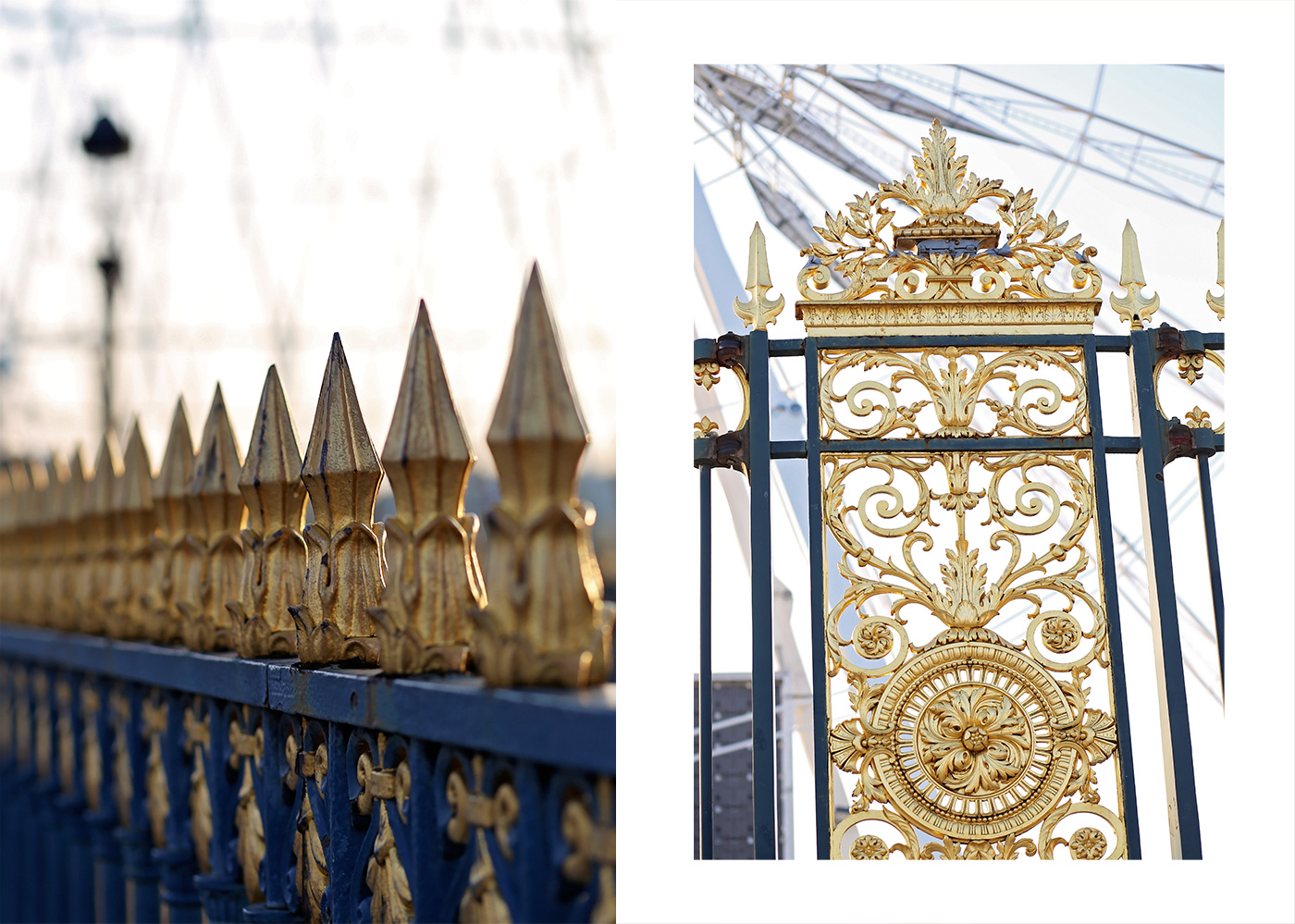 The Golden gates at Jardin des tuileries photographed by Armenyl.com