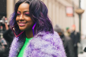 Roc nation artist Justine Skye fashion at New York Fashion Week