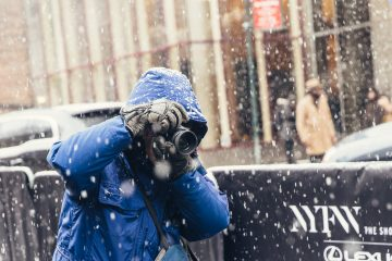 American Fashion photographer Bill Cunningham photographed in New York City by Armenyl.com