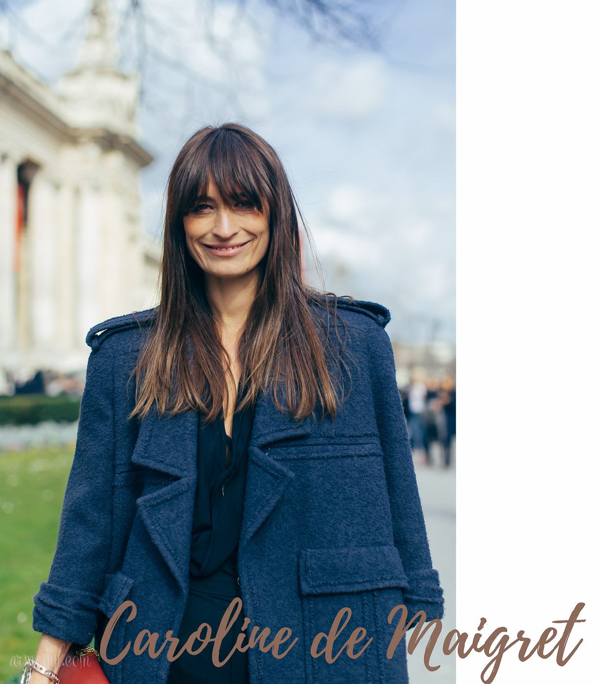 Caroline de Maigret How to be a Parisian wherever you are, love,style and bad habits, photographed for Paris street at PFW