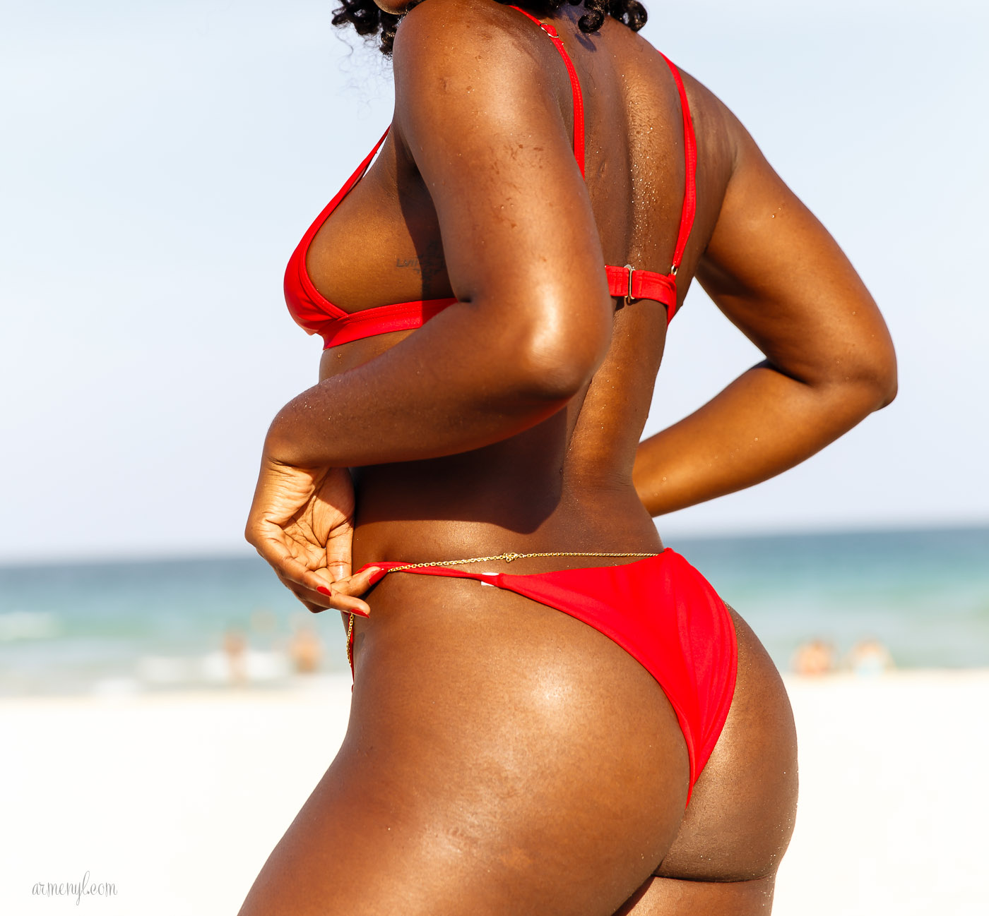 Beautiful dark skin Fashion Swimwear and beach photography by Armenyl.com