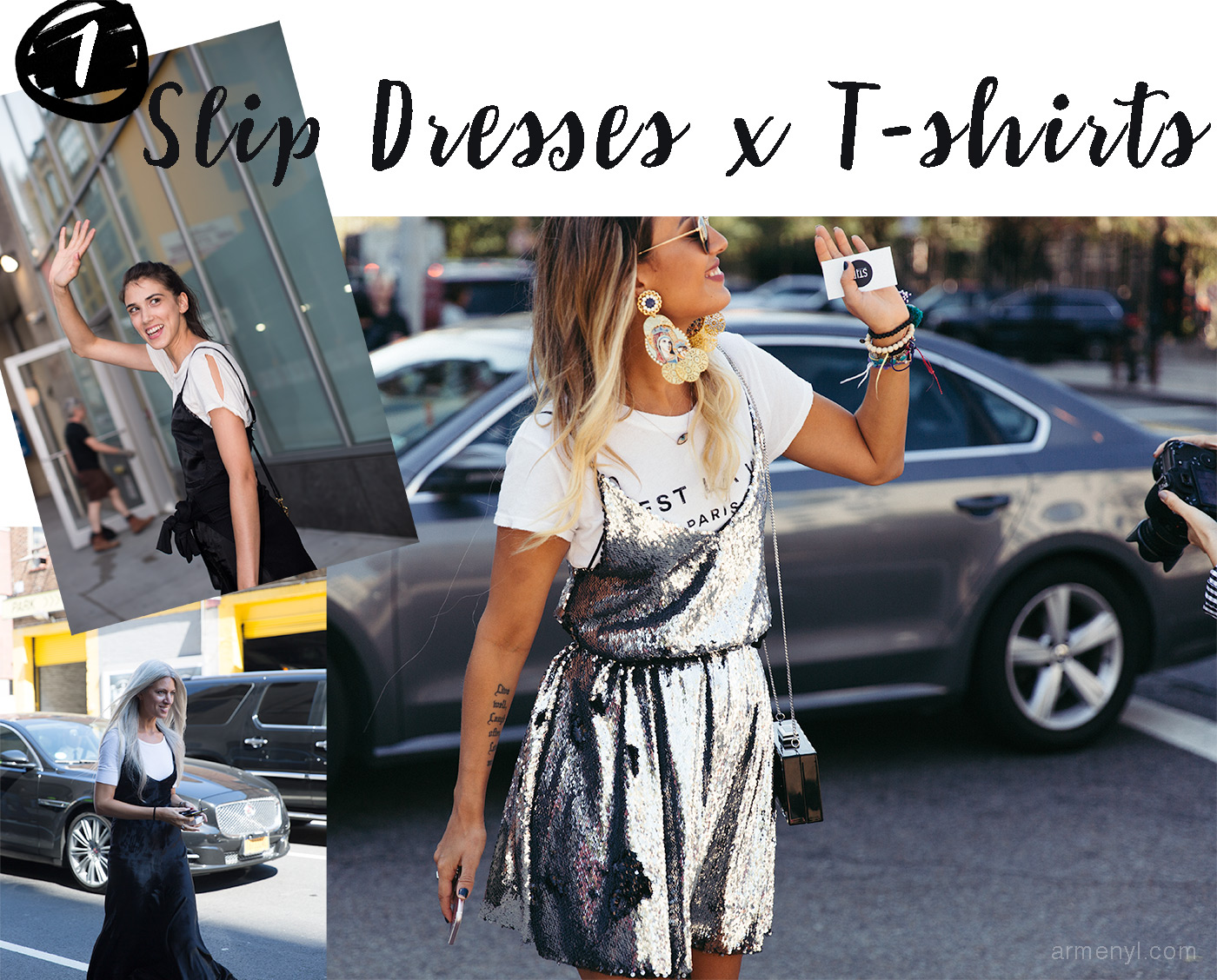 Style Report Fashion Week trends 2016 Slip dresses and T shirts