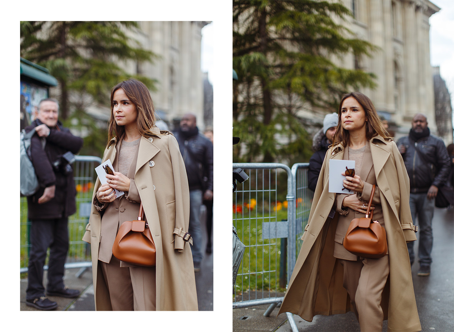 Brown / nude monochrome fashion look Miroslava Duma photographed by Armenyl.com