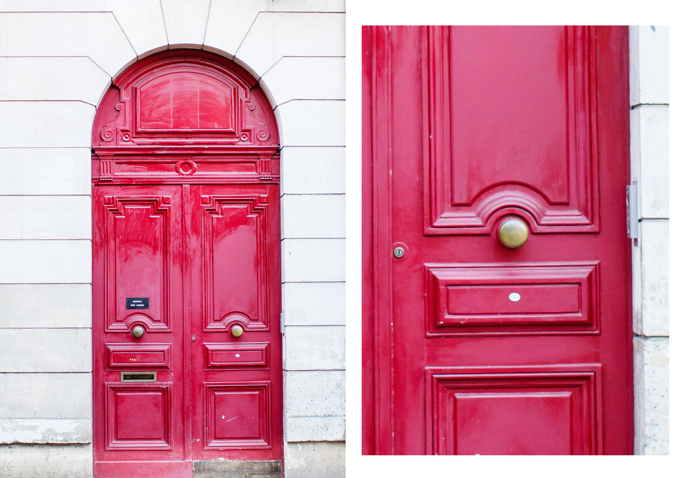 Pretty doors in Paris photographed by Armenyl.com