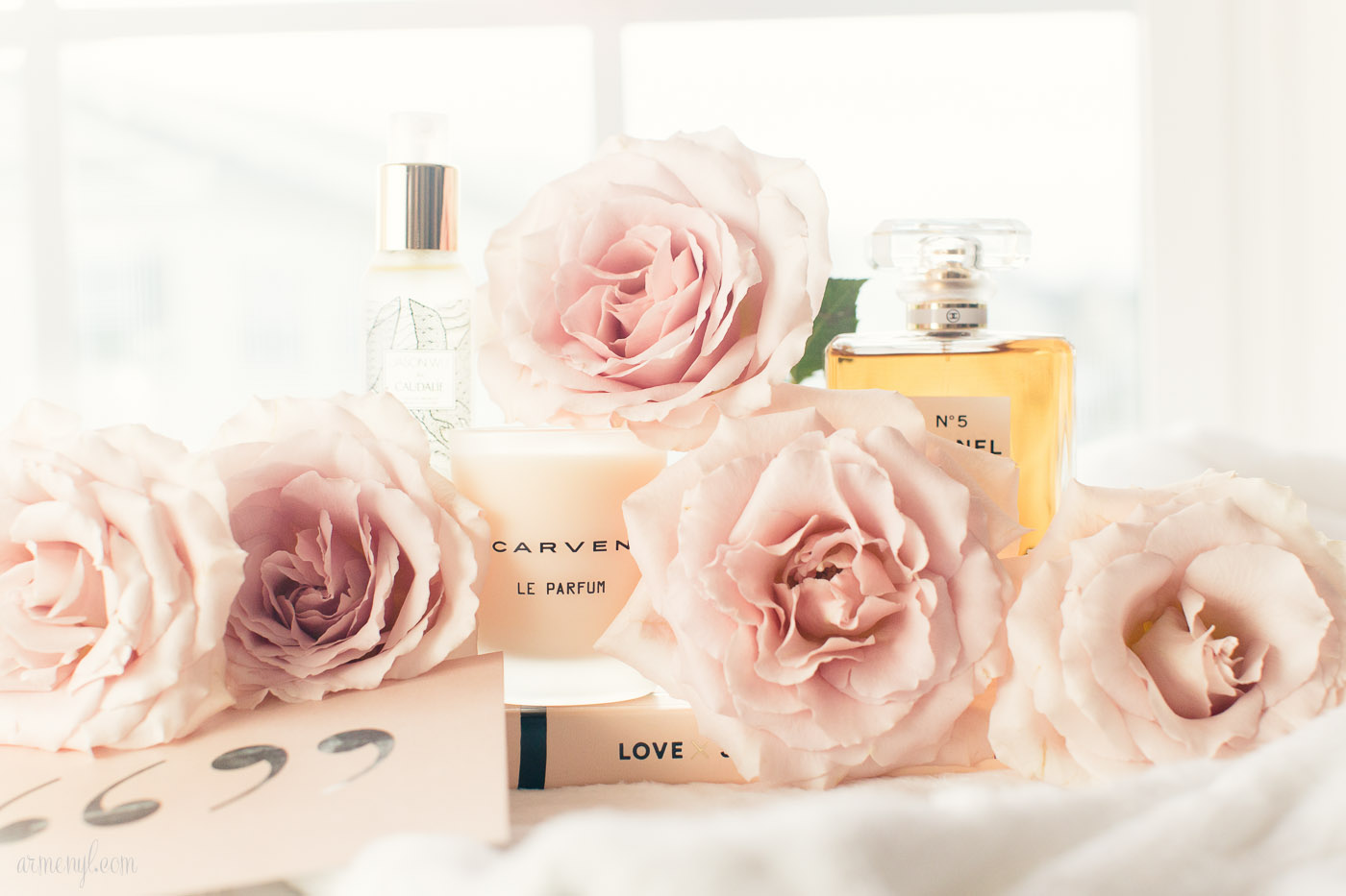 The best french beauty products every woman should have Garance dore, Caudalie, Flatlay, Chanel No 5 by Armenyl.com