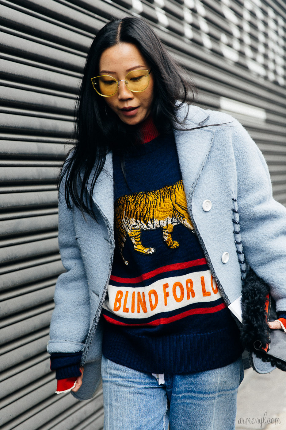 Blind for Love Sweater Street Style photography by Armenyl.com