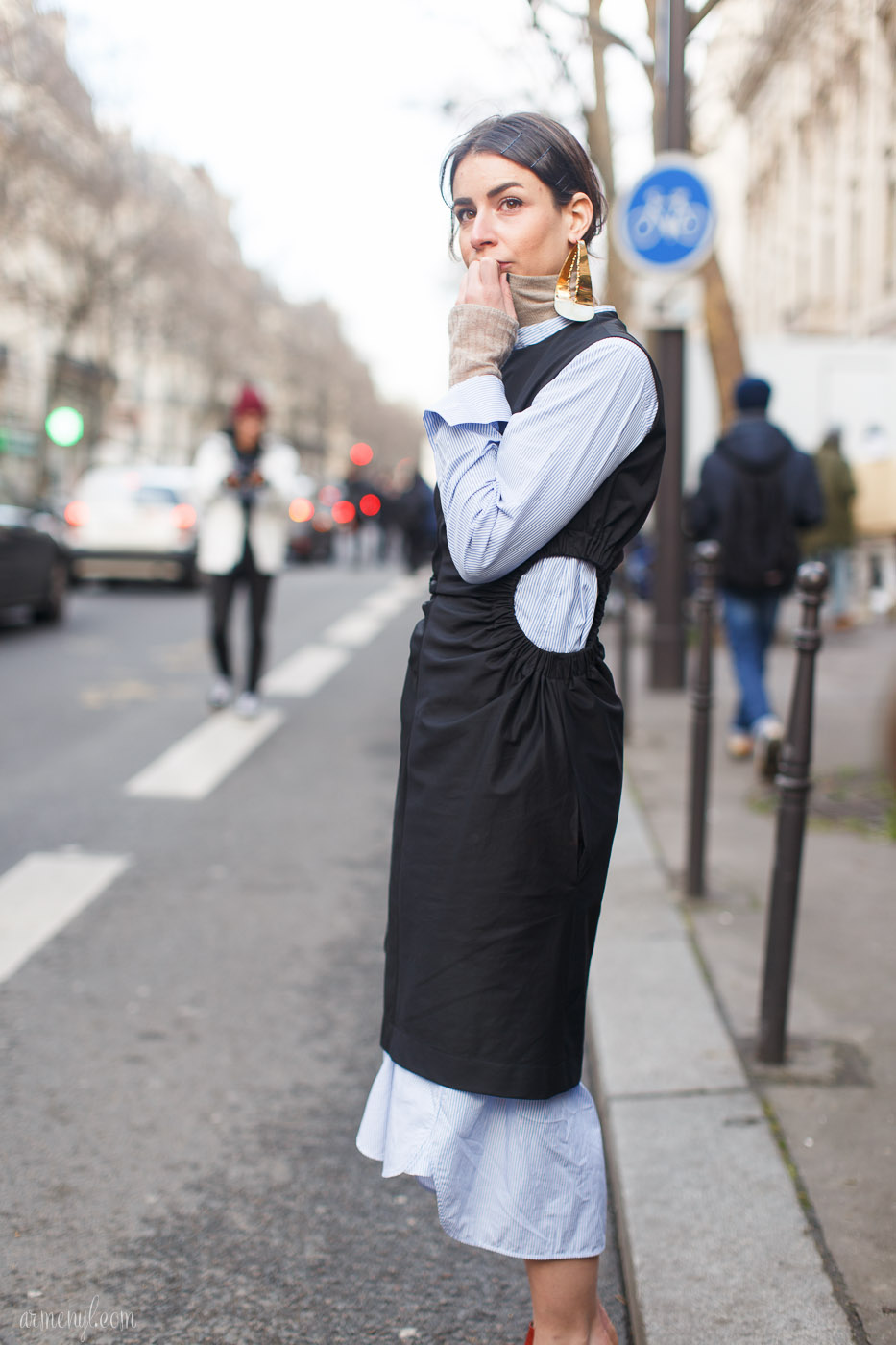 Irina Lakicevic Street style at Paris Fashion Week | Armenyl.com