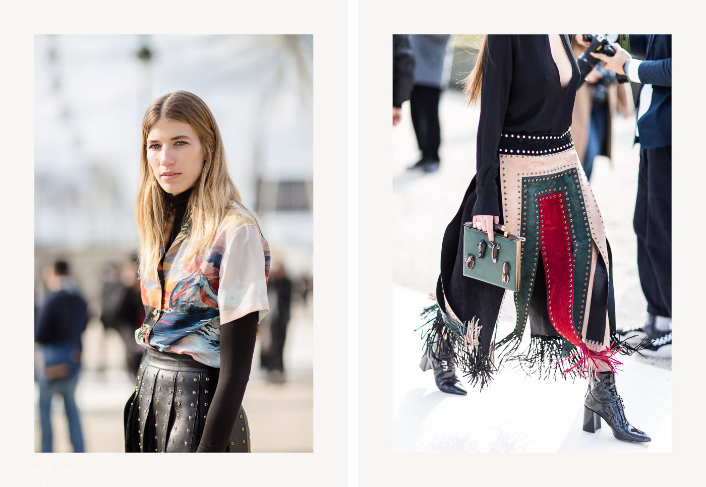 Veronika Heilbronner Street Style Looks at Paris Fashion Week | Armenyl.com