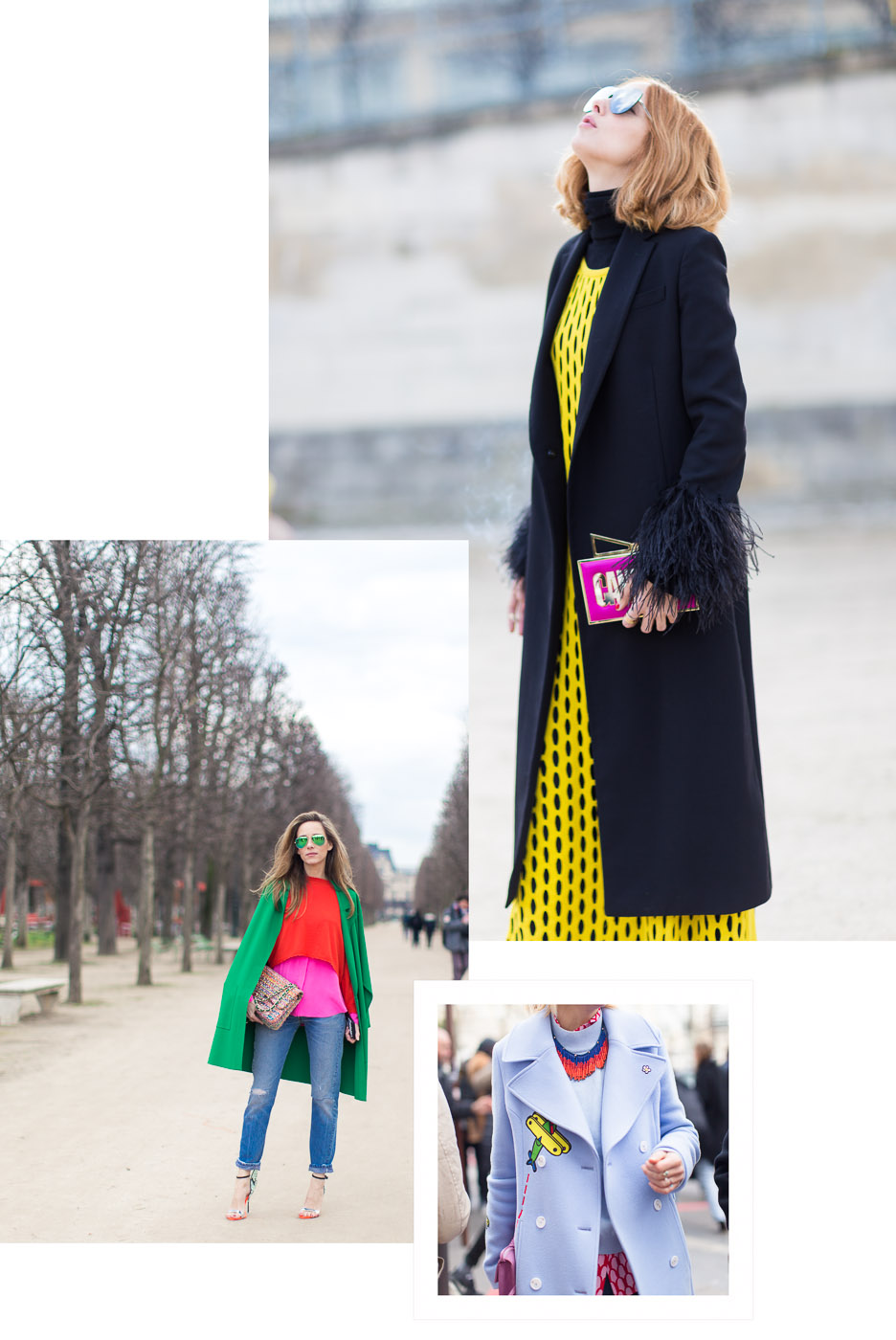 Color Blocking in the Best Street style looks from Paris Fashion Week | Armenyl.com