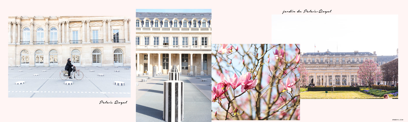 Best Places to take pictures in Paris featuring Palais Royal Instagram worthy photos by Armenyl.com
