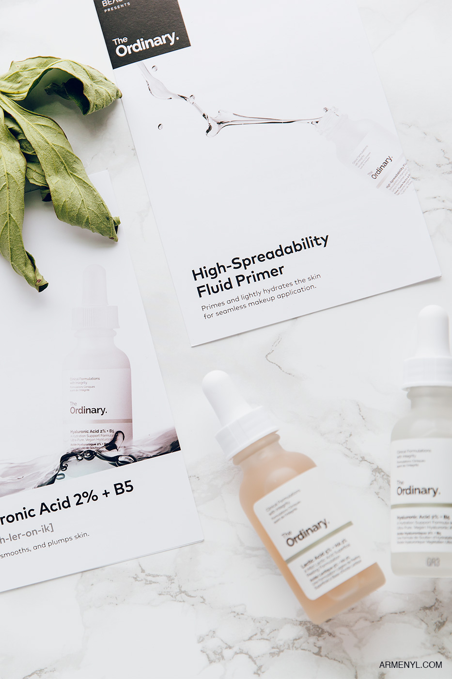 The Ordinary Skincare Beauty Product Review & content creation by Armenyl