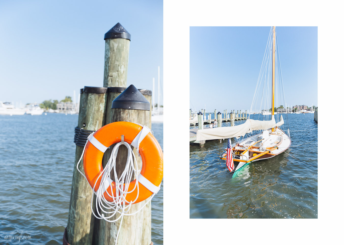 Annapolis Maryland boats and city dock on Ego Alley photographed by Armenyl