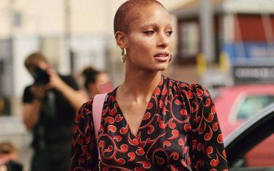 Ghanaian British Fashion Model Adwoa Aboah at Coach SS 2018 show on September 12 photo by Armenyl