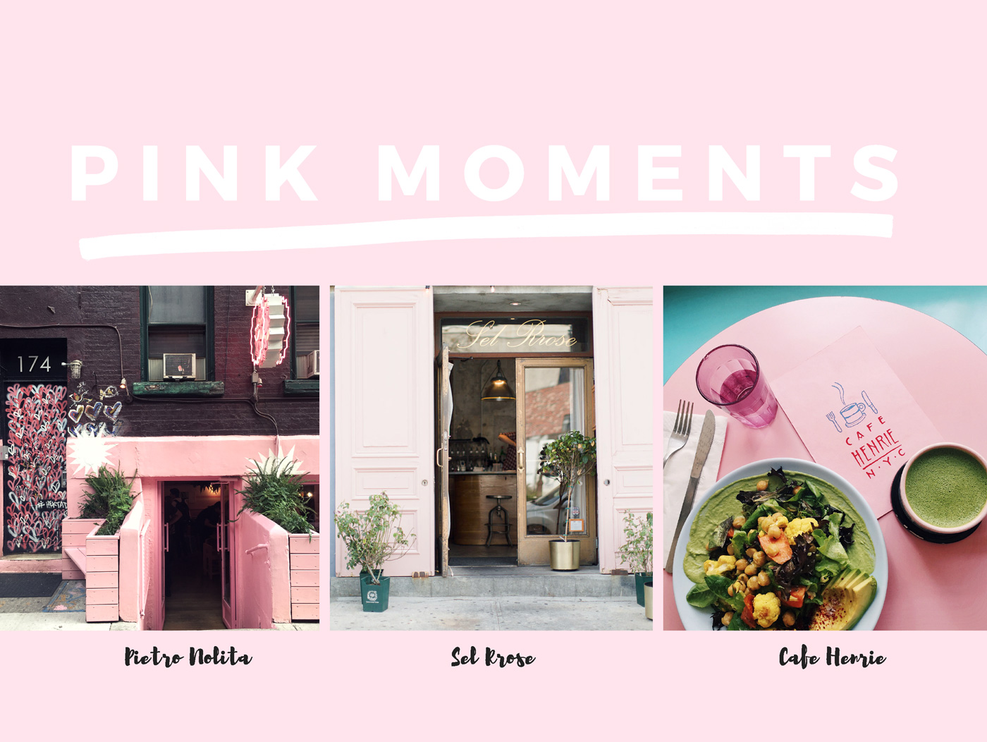 New York City Guide: the most Instagram worthy spots in NYC Featuring Pietro Nolita, Cafe Henri, Sel Rrose NYC photo by Armenyl