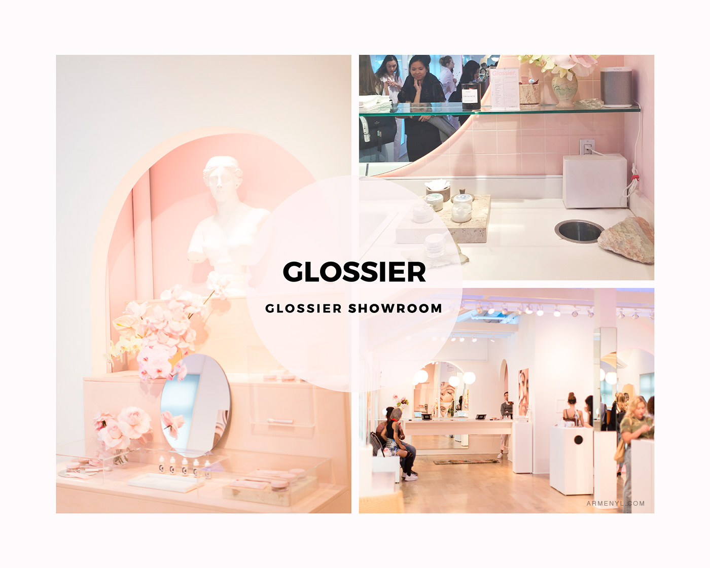 New York City Guide: the most Instagram worthy spots in NYC in NYC Featuring Glossier Showroom photo by Armenyl