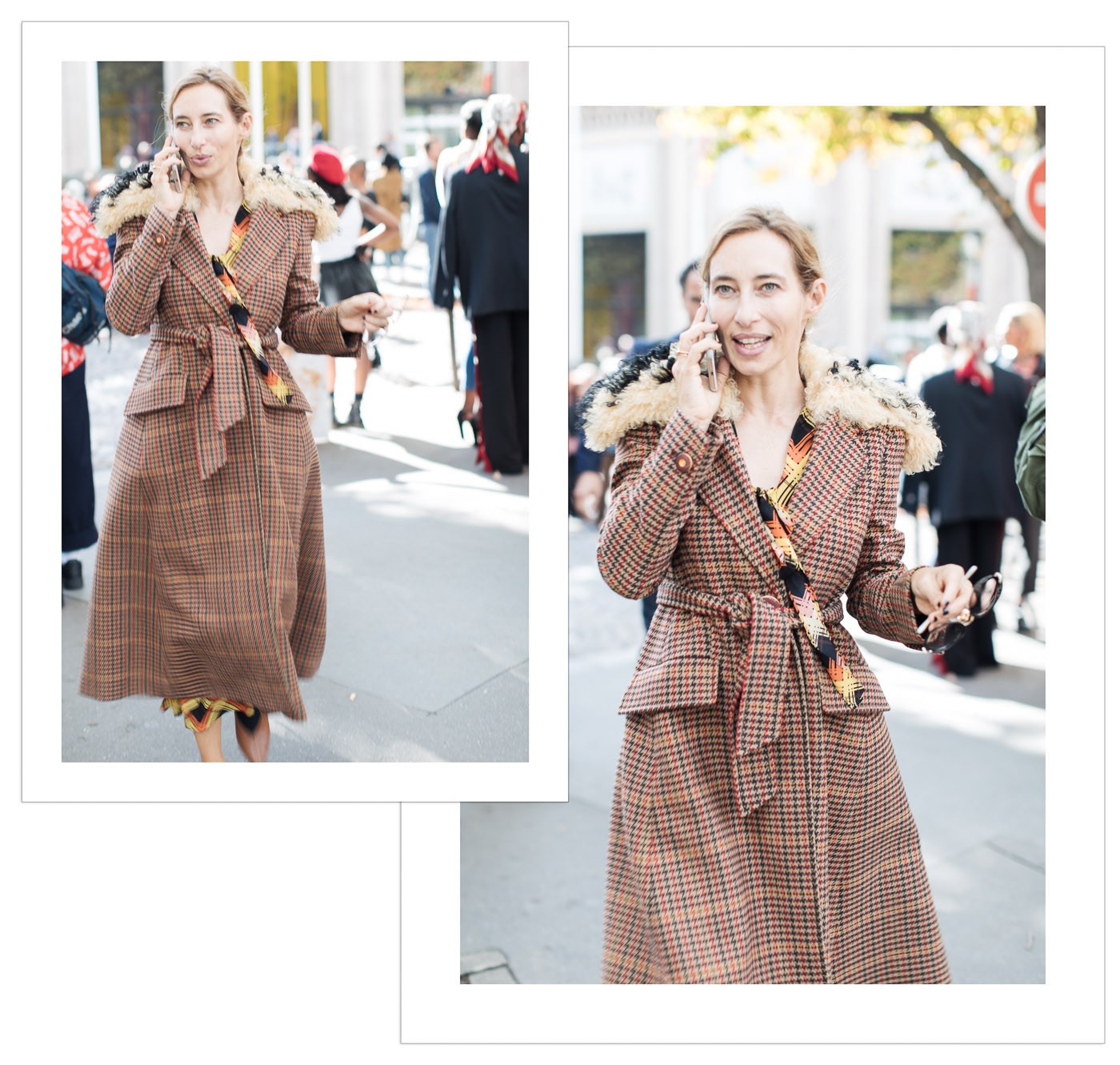 Plaid street style trend the biggest fall fashion trend at Paris fashion Week photography by Armenyl