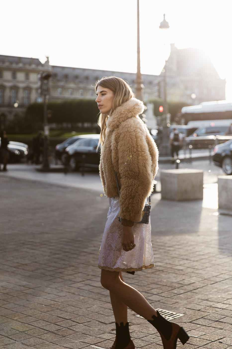Veronika Heilbrunner Street Style Fall Fashion Looks at Louis Vuitton SS 2018 Show in Paris photo by Fashion Photographer Armenyl