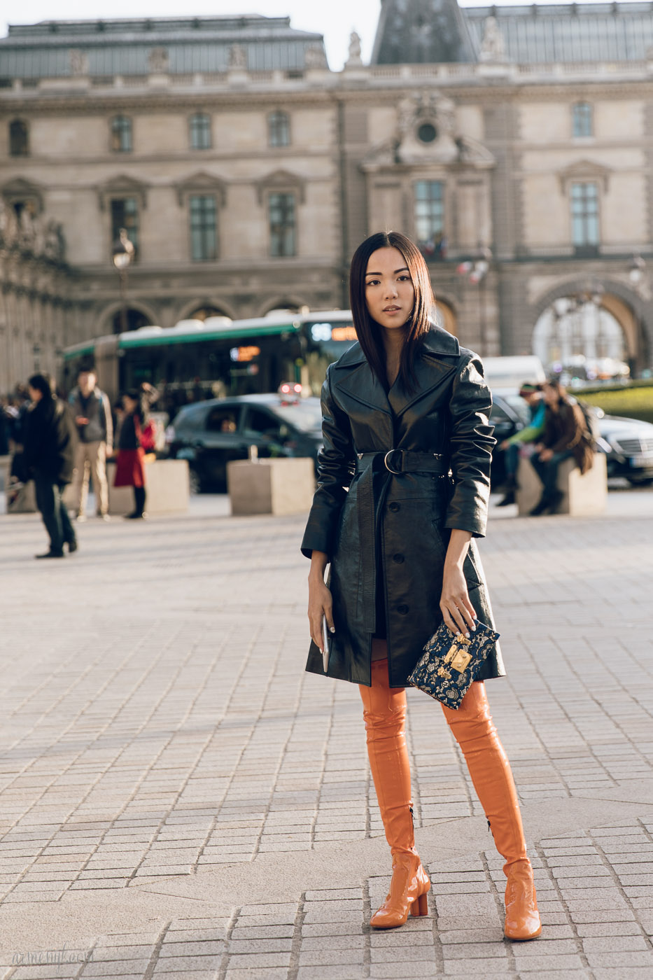 Street style looks at Louis Vuitton SS 2018 show in Paris by Armenyl