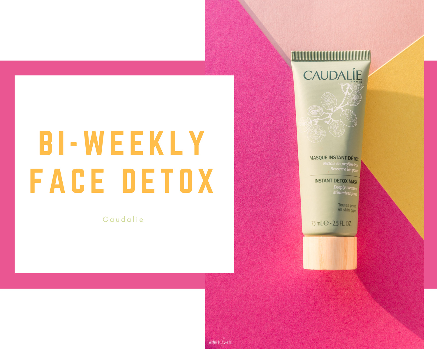 Caudalie Instant Detox face mask The best of french beauty skincare products by Armenyl.com