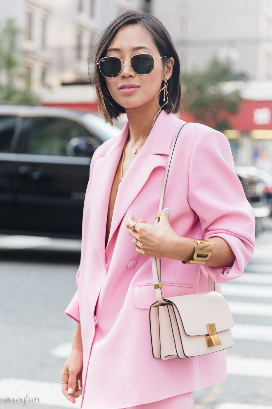 The best pink street style looks at new york fashion week Style me pink fashion show